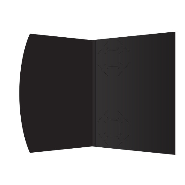 Golf Swing Silhouette Presentation Folder Template (Inside View)
