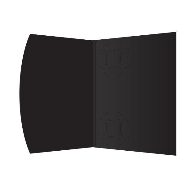 Golf Swing Silhouette Presentation Folder Template (Inside View)