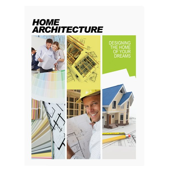 Home Architecture Presentation Folder Template (Front View)