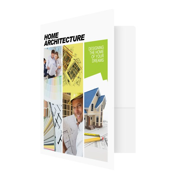 Home Architecture Presentation Folder Template (Front Open View)