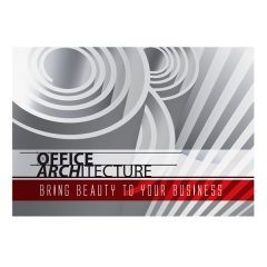 Office Architecture Single Pocket Folder Template (Front View)