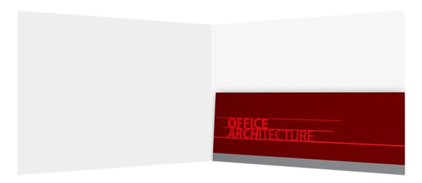 Office Architecture Single Pocket Folder Template (Inside View)