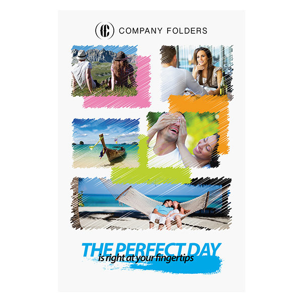 Perfect Day Travel Documents Folder Template (Front View)
