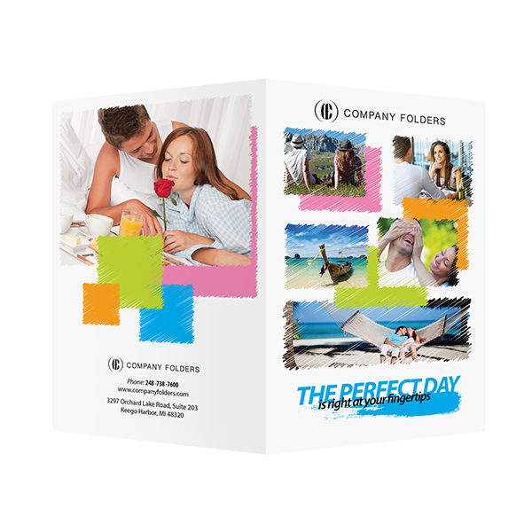 Perfect Day Travel Documents Folder Template (Front and Back View)