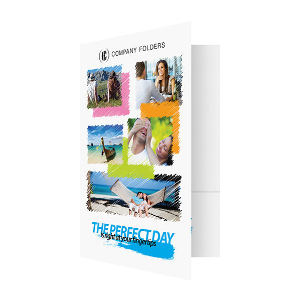 Perfect Day Travel Documents Folder Template (Front Open View)