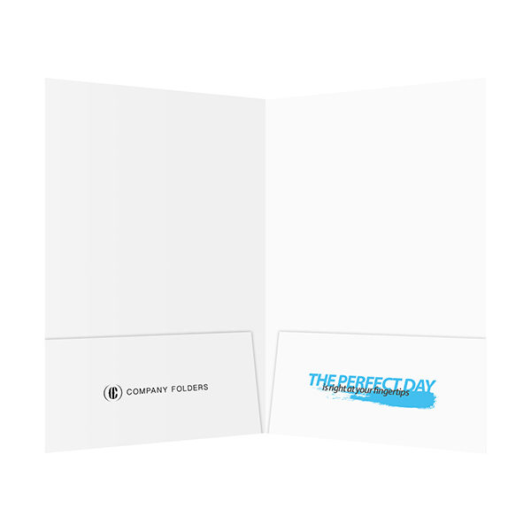 Perfect Day Travel Documents Folder Template (Inside View)