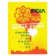 Ratha Yatra India Presentation Folder Template (Front View)