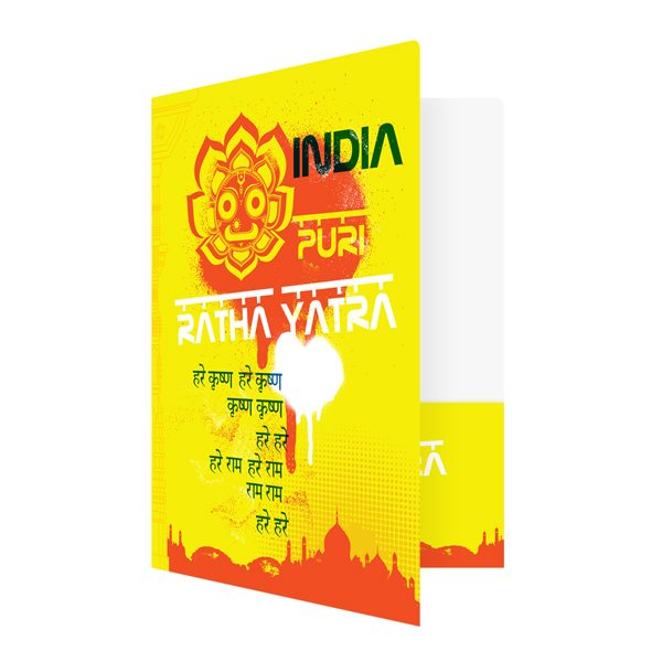Ratha Yatra India Presentation Folder Template (Front Open View)