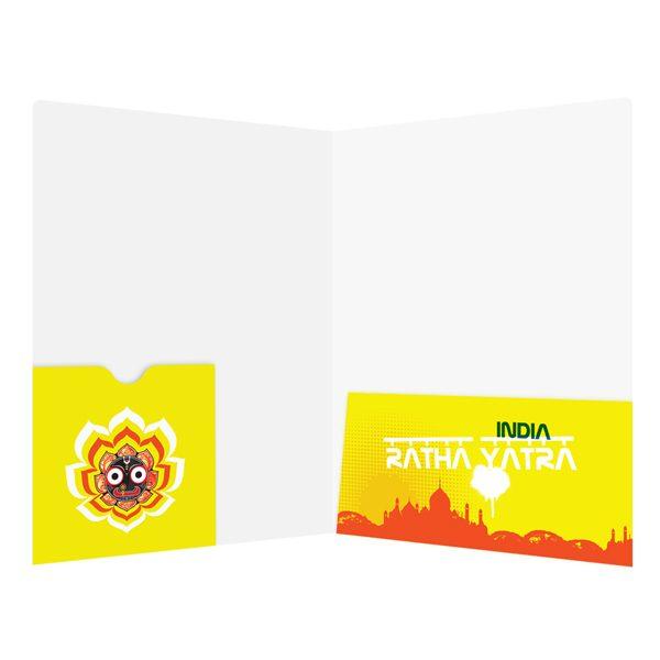 Ratha Yatra India Presentation Folder Template (Inside View)