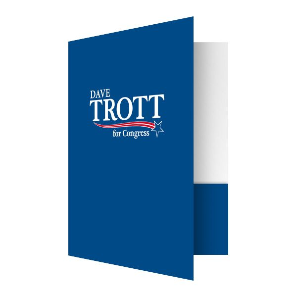 Trott For Congress Presentation Folder (Front Open View)