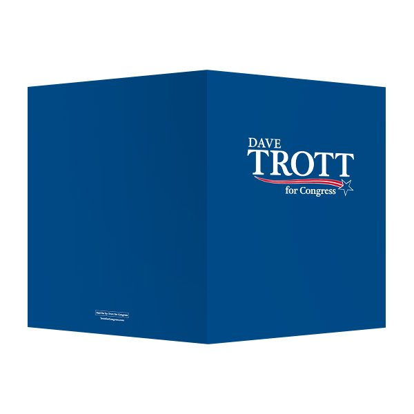Trott For Congress Presentation Folder (Front and Back View)
