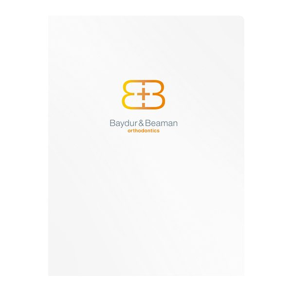 Baydur and Beaman Orthodontics Pocket Folder (Front View)
