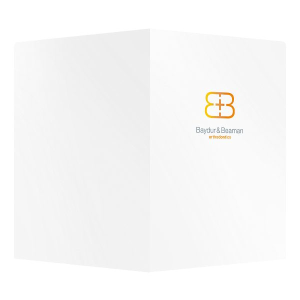 Baydur and Beaman Orthodontics Pocket Folder (Front and Back View)