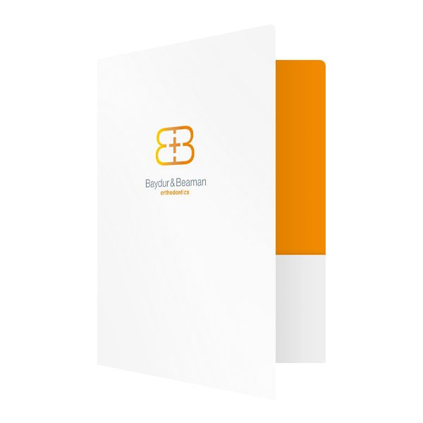 Baydur and Beaman Orthodontics Pocket Folder (Front Open View)