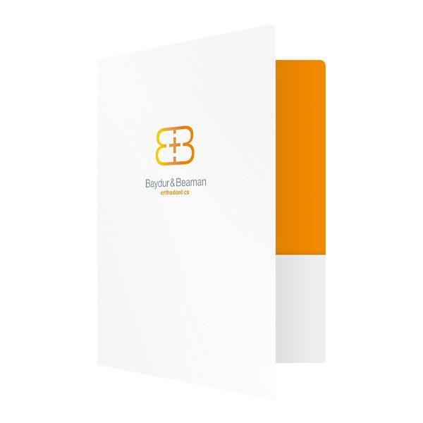 Baydur and Beaman Orthodontics Pocket Folder (Front Open View)