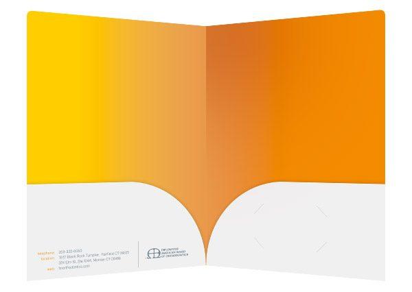 Baydur and Beaman Orthodontics Pocket Folder (Inside View)