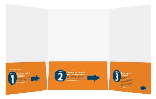 Curve Dental Branded Presentation Folder (Inside View)