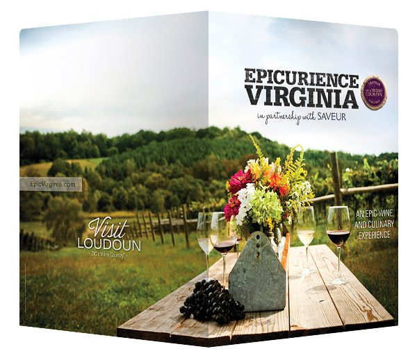 Epicuriance Virginia Wine Festival Folder (Front and Back View)