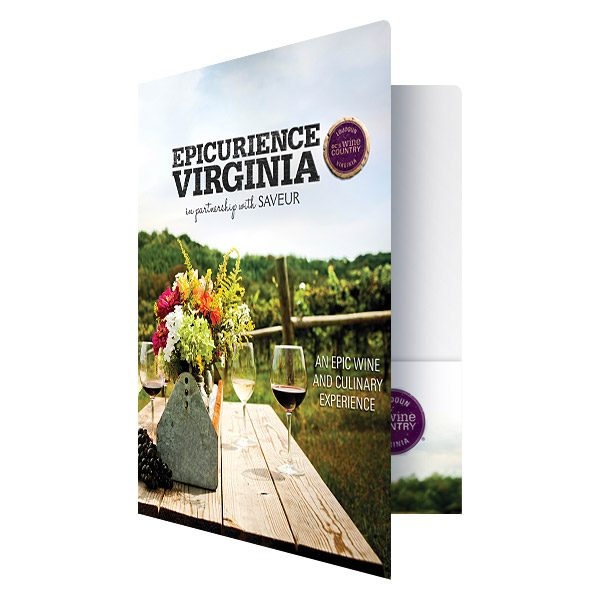 Epicuriance Virginia Wine Festival Folder (Front Open View)