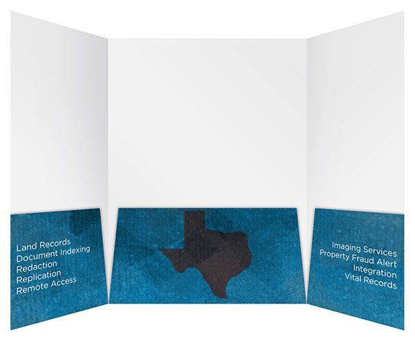 Fidlar of Texas Three Panel Gatefold Folder (Inside View)
