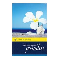 Beach Paradise Pocket Folder Template (Front View)