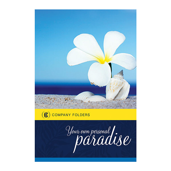 Beach Paradise Pocket Folder Template (Front View)