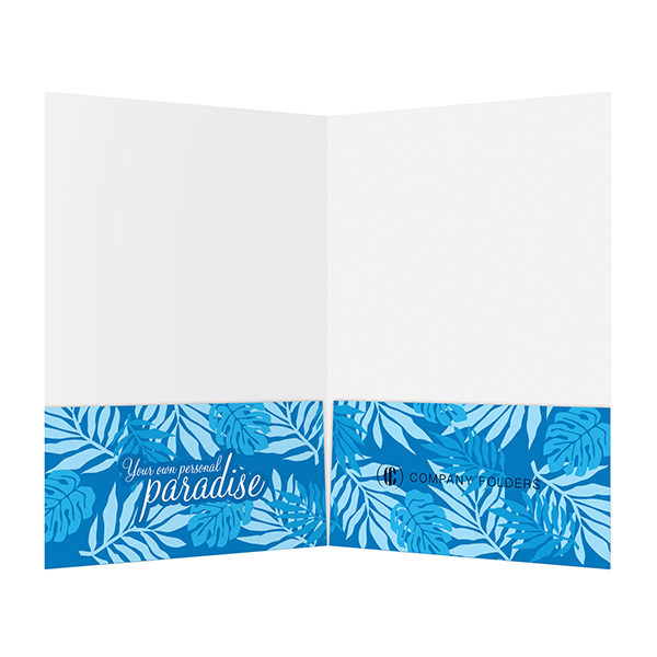 Beach Paradise Pocket Folder Template (Inside View)