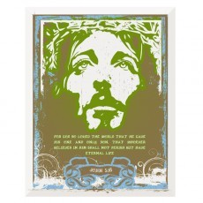 Graffiti Jesus with Roses Church Folder Template (Front View)
