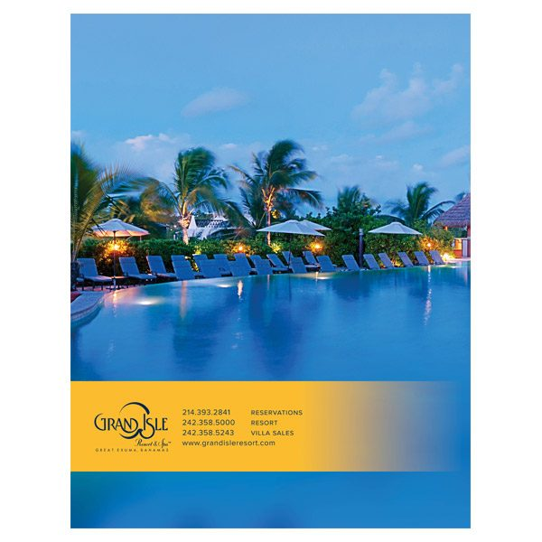 Grand Isle Resort & Spa Presentation Folder (Back View)