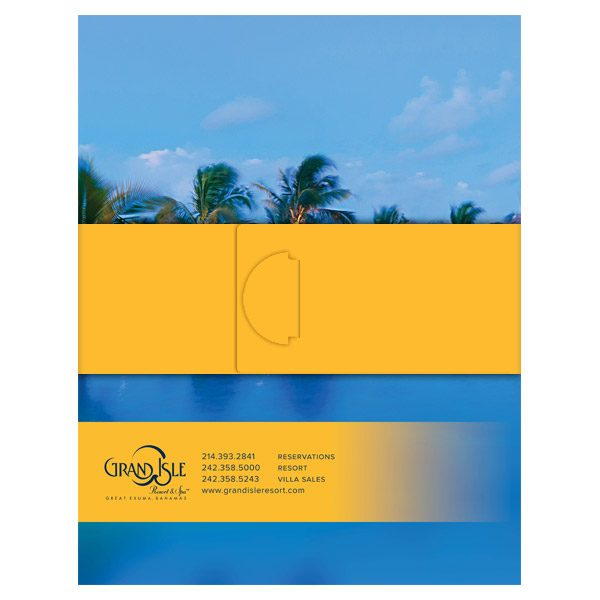 Grand Isle Resort & Spa Presentation Folder (Back View with Band)