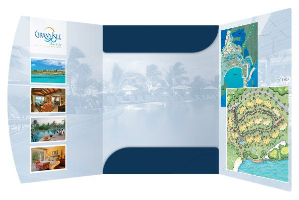 Grand Isle Resort & Spa Presentation Folder (Inside View)