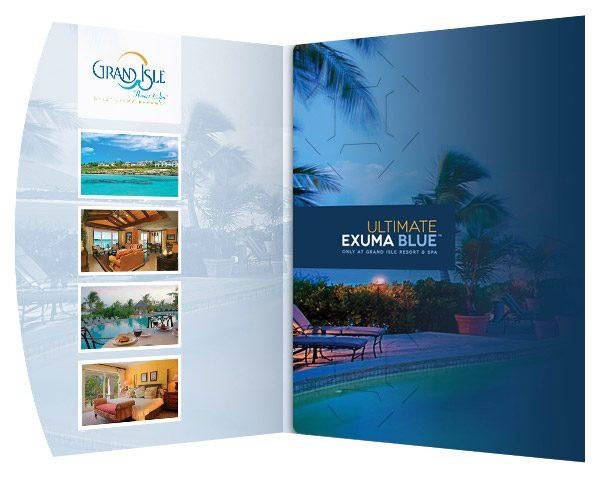 Grand Isle Resort & Spa Presentation Folder (Inside Panel View)