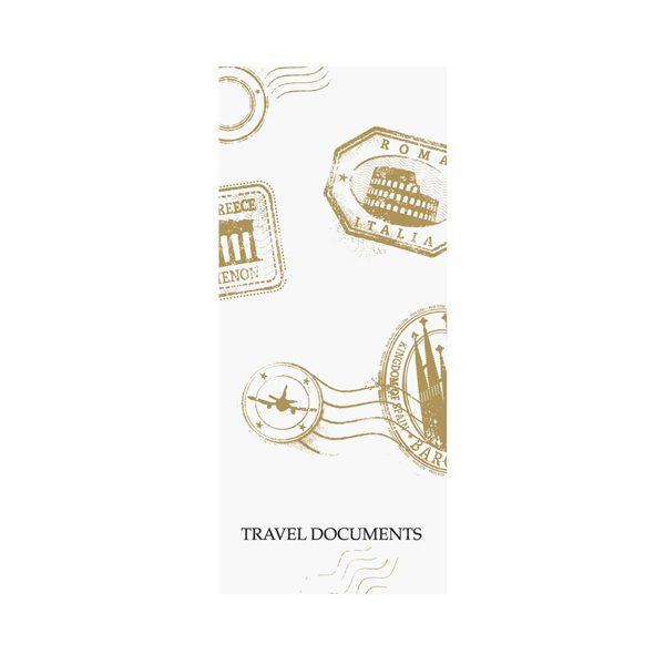 Grand Tours Travel Agent Document Folder (Front View)