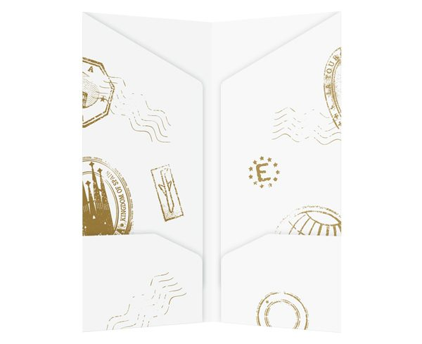 Grand Tours Travel Agent Document Folder (Inside View)