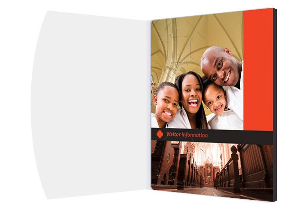 Cathedral Visitor Folder Packet & Card Template (Inside Panel View)