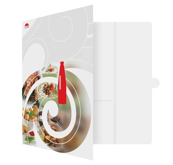Lee Kum Kee Branding Presentation Folder (Front Open View)