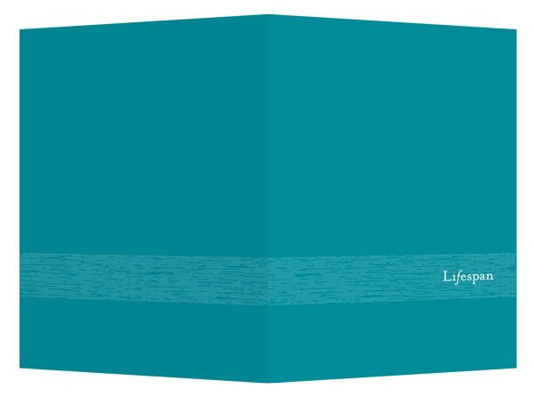 Lifespan Hospitals Turquoise Pocket Folder (Front and Back View)