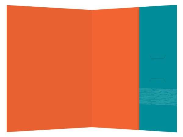 Lifespan Hospitals Turquoise Pocket Folder (Inside View)