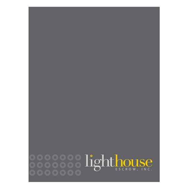 Lighthouse Escrow Financial Document Folder (Front View)