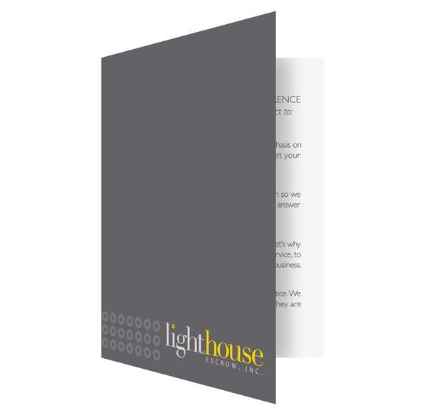 Lighthouse Escrow Financial Document Folder (Front Open View)