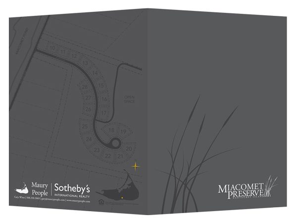 Miacomet Preserve Real Estate Folder (Front and Back View)