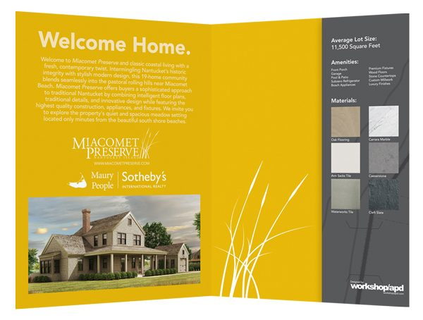 Miacomet Preserve Real Estate Folder (Inside View)