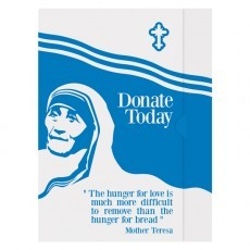 Mother Teresa Charity Presentation Folder Template (Front View)