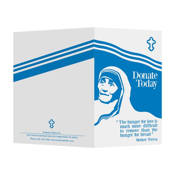 Mother Teresa Charity Presentation Folder Template (Front and Back View)