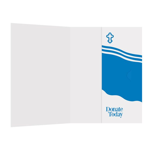 Mother Teresa Charity Presentation Folder Template (Inside View)