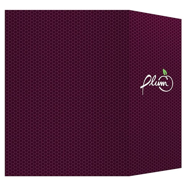 Plum Direct Marketing Presentation Folder (Back View)