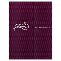 Plum Direct Marketing Presentation Folder (Front View)