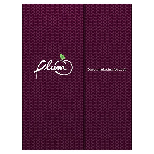Plum Direct Marketing Presentation Folder (Front View)