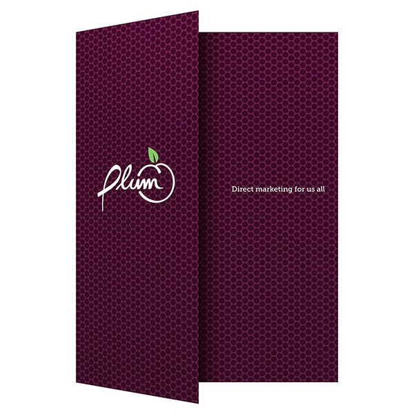 Plum Direct Marketing Presentation Folder (Front Open View)