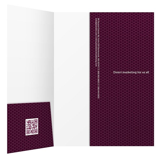 Plum Direct Marketing Presentation Folder (Inside View)